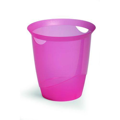 Kosz na śmieci DurableTrend przezroczysty różowy (16 l.)