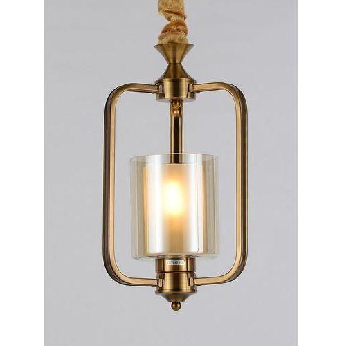 Lampa wisząca loft mosiężna atlanta w1 marki Lumina deco