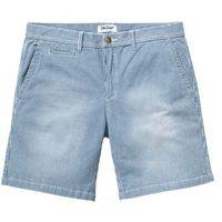 Bonprix Długie szorty dżinsowe ze stretchem regular fit niebieski w paski