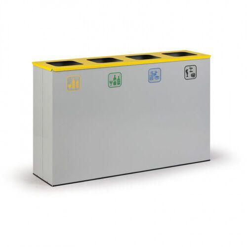 Kosz do segregacji śmieci, 4 x 50 l szary marki B2b partner