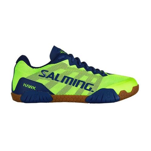 hawk shoe men fluo green navy blue, Salming
