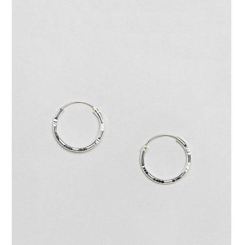 Kingsley Ryan Sterling Silver 20MM Diamond Cut Hoop Earrings - Silver, kolor szary