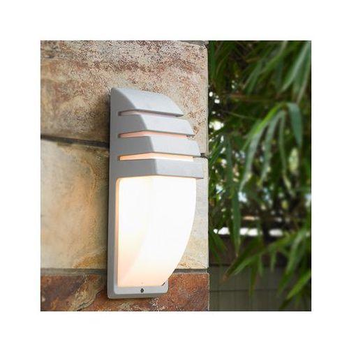 Italux Kinkiet lampa elewacyjna decora 5161/alu zewnętrzna oprawa ścienna do ogrodu ip43 outdoor szara biała
