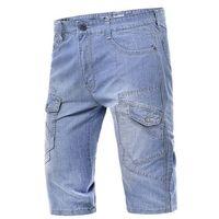 Krótkie spodenki męskie j3431 - jeansowe marki Risardi