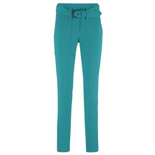 Bonprix Spodnie z szerokimi nogawkami niebieskozielony morski