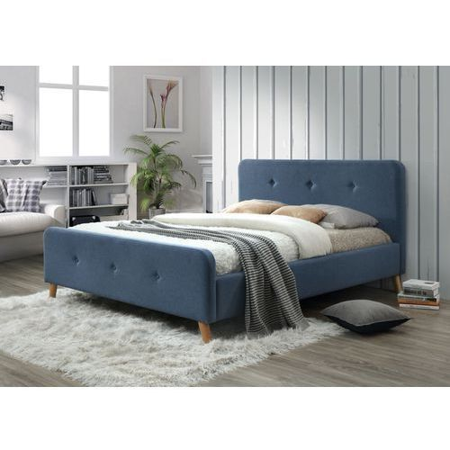 Łóżko malmo 160x200 - denim - styl skandynawski marki Signal