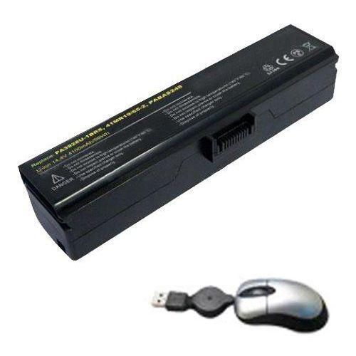 amsahr tsa3928 – 05 do baterii do Toshiba pa3928, X770, X770 – 107, X770 – 11 °C, X770 bt5g23 – zawierają Mini myszka optyczna Czarny, TSA3928-05