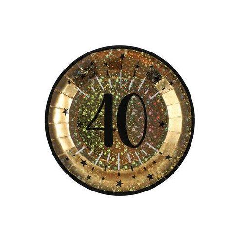 Santex Talerzyki na czterdzieste urodziny sparkling - 22,5 cm - 10 szt.