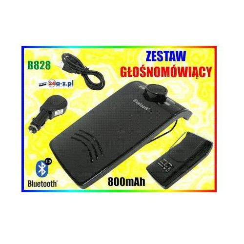 Bezprzewodowy Samochodowy Zestaw Głośnomówiący Bluetooth - do Pojazdu., 59077734155838