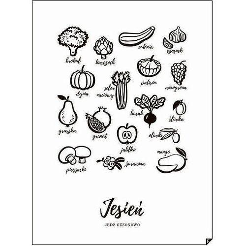 Plakat jesień - jedz sezonowo 21 x 30 cm marki Follygraph