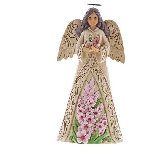 Anioł Sierpień patron urodzonych w sierpniu Monthly Angel Figurine August Angel 6001569 Jim Shore, pamiątka narodzin, chrztu figurka dewocjonalia