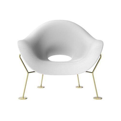 fotel pupa biało-mosiężny 60001wh-br marki Qeeboo