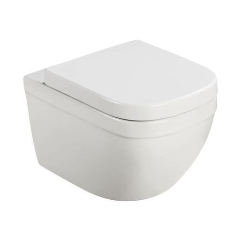 Miska wisząca WC Grohe Vortex bezkołnierzowa z deską wolnoopadającą z duroplastu, 39554000