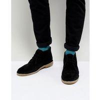 desert boots in black suede - black marki Dune