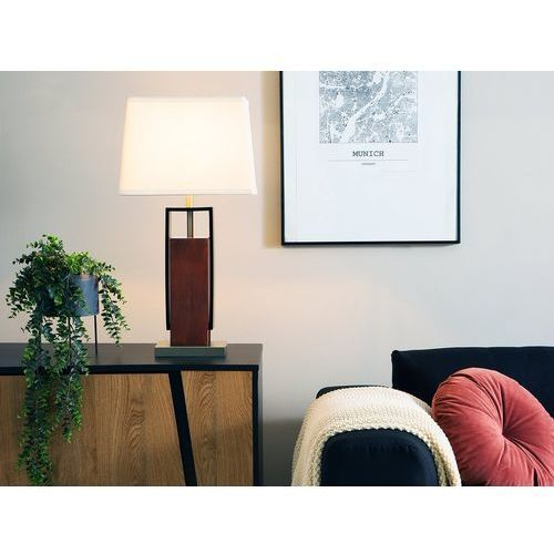 Lampa stołowa biała 70 cm vedi marki Beliani
