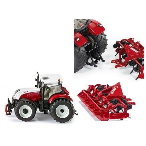 Siku 3283 traktor steyr cvt 6230 z kultywatorem grimme 1:32