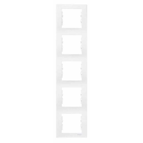 Schneider electric Ramka pięciokrotna schneider sedna sdn5801521 pionowa biała