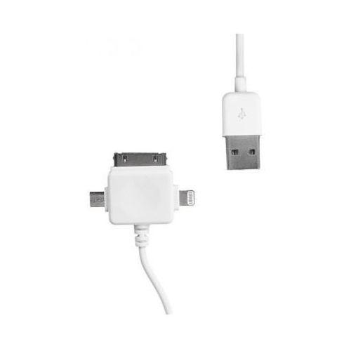 Whitenergy Kabel usb - microusb/iphone4/iphone5 1m