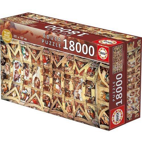 Educa Puzzle 18000 elementów, kaplica sykstyńska - darmowa dostawa!!! (8412668160651)