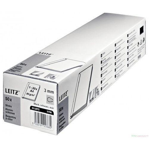 Grzbiet wsuwany Leitz A4/3mm/50szt 21770 przezroczysty (5032191217702)