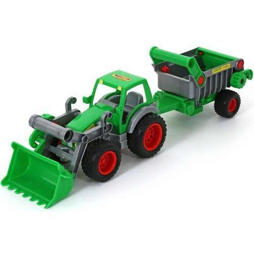 """Polesie 8718 """"Farmer-technik"""" traktor ładowarka z naczepą w siatce (8718 POLESIE)"""