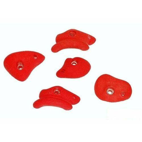 Kamienie do wspinaczki l - jednokolorowe - czerwony marki Just fun