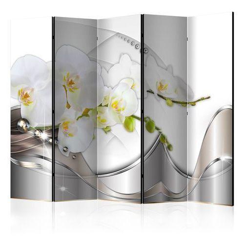 Artgeist Parawan 5-częściowy - perłowy taniec orchidei ii [room dividers]
