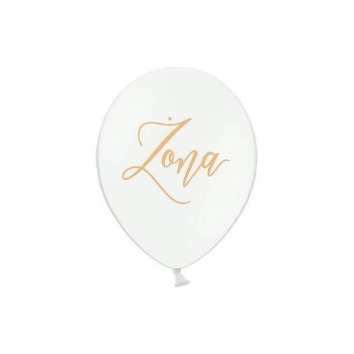 Balon biały żona złoty 30cm 1/50 marki Twojestroje.pl