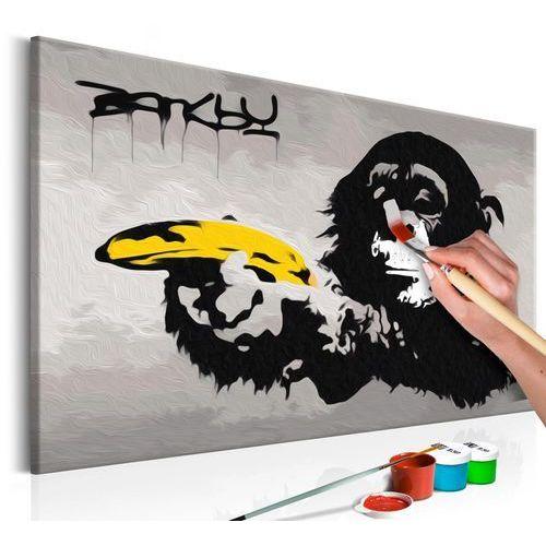 Obraz do samodzielnego malowania - małpa (banksy street art graffiti) marki Artgeist