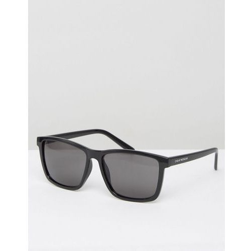 Cheap Monday Shield Sunglasses with Flat Top in Black - Black