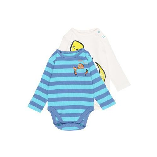 mothercare GRAPHIC AND DINO BABY 2 PACK Body brights multicoloured, kolor czerwony