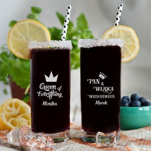 Władca i królowa - dwie grawerowane szklanki - szklanki marki Mygiftdna