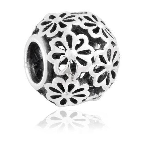 Charms koralik srebrny pokorne stokrotki marki Murrano