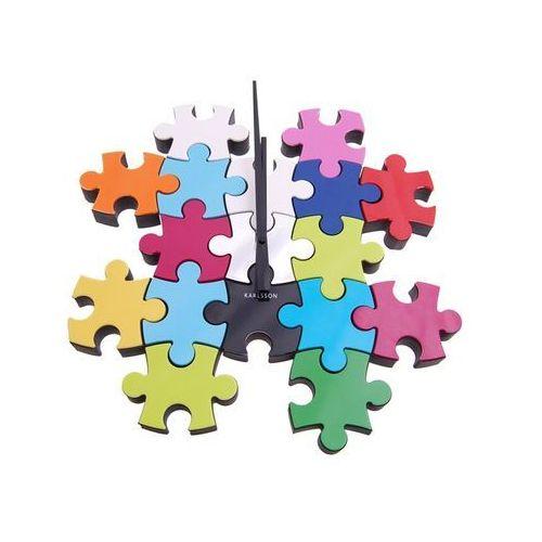 Zegar ścienny do it yourself puzzle multi colour by marki Karlsson