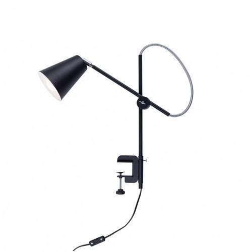Aldex Arte 1008B1_U Lampka stołowa biurkowa z uchwytem 1x60W E27 czarna (5904798648909)