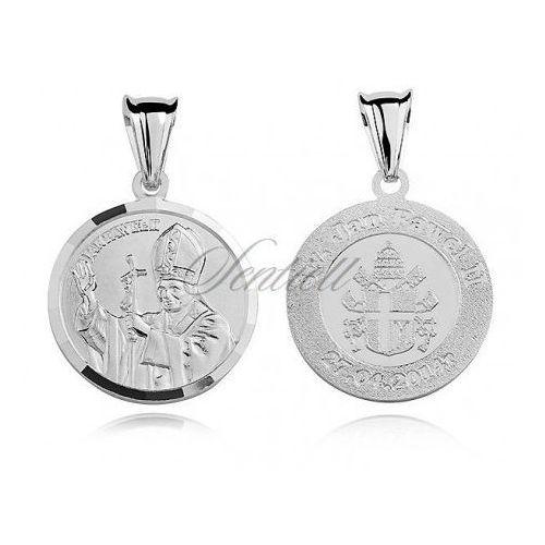 Srebrny medalik Święty Papież Jan Paweł II - MD275, MD275
