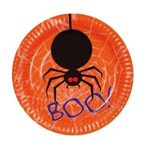 Talerzyki papierowe halloween 18 cm - 6 szt marki Aster