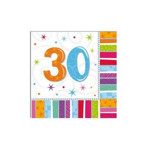 Amscan Serwetki urodzinowe na trzydzieste urodziny - 30tka - 33 x 33 cm - 16 szt. (0048419712480)