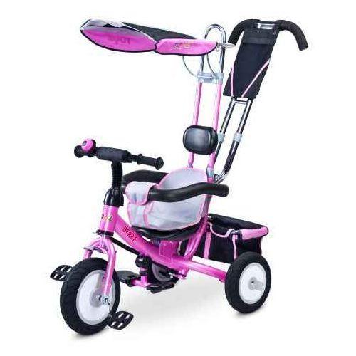 Caretero Rowerek 3-kołowy DERBY PINK TOYZ-0312 (5902021522811)
