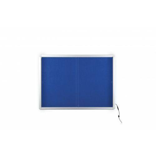 2x3 Gablota informacyjna tekstylna z przesuwanymi drzwiami z oświetleniem led 138x68cm