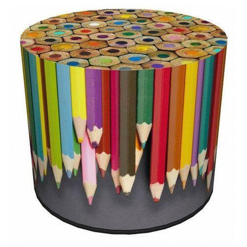 Okrągła kolorowa pufa dziecięca 8 wzorów - basti marki Producent: elior