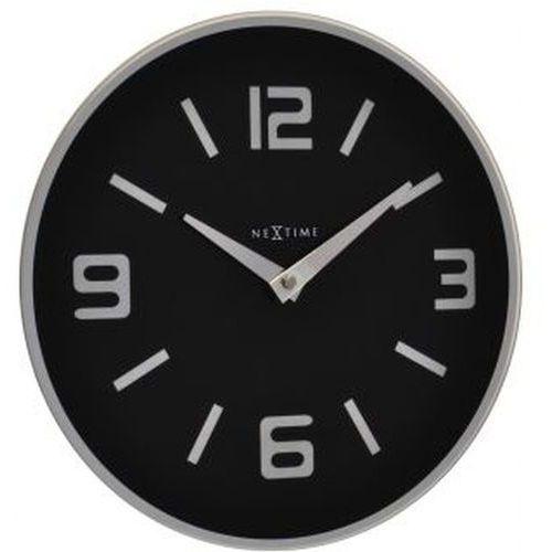 NeXtime - zegar ścienny Shuwan 43 cm - czarny