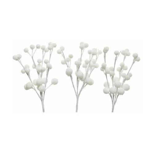 Gałązka kulki 18 cm 1 szt. białe marki Decoris