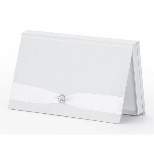 Ap Pudełko na pieniądze białe ze srebrną likacją - 1 szt. (5901157455758)