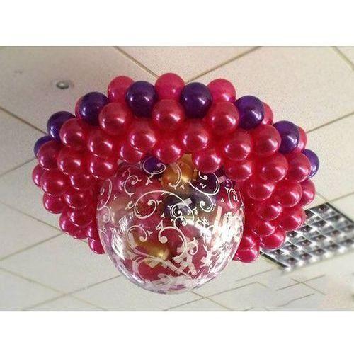 Balon strzelający olbrzym z nadrukiem/metalic, 100 balonów, pompka i dodatki