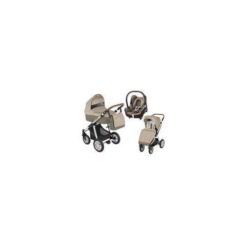 Wózek wielofunkcyjny 3w1 Dotty Baby Design + Cabrio Fix GRATIS (beżowy)
