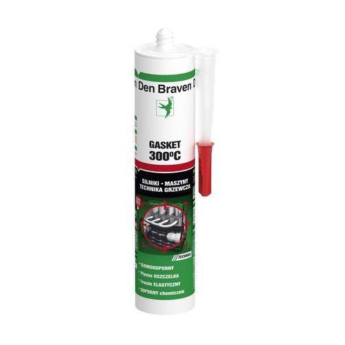 Silikon wysokotemperaturowy gasket-sealant 280 ml czerwony marki Den braven