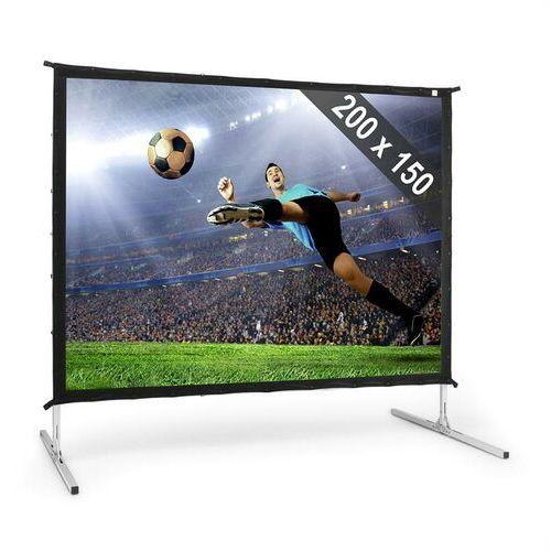 """FrontStage PSKC100 elektryczny ekran projekcyjny rozwijany 200x150cm 100"""" 254cm Aluminiowa walizka kino domowe (4260435911890)"""
