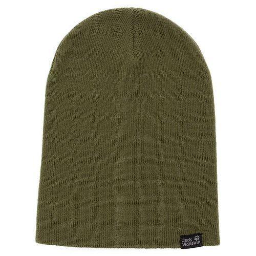 Jack wolfskin Czapka - rib hat 1903891 woodland green