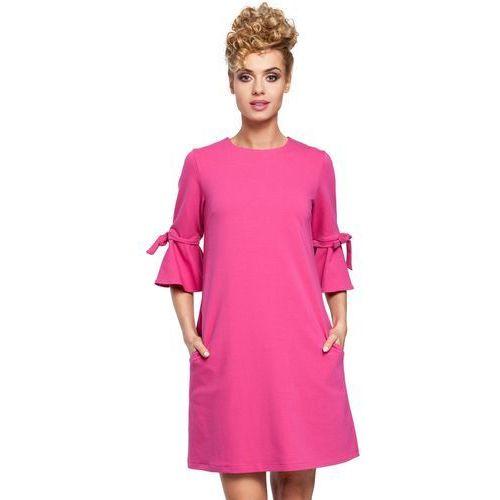 M286 Sukienka fuksja, kolor różowy